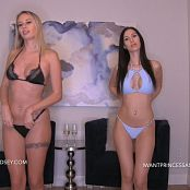 Princess Ashley and Goddess Lindsey Bikini Brats Verbally Abuse You Video 090719 mp4