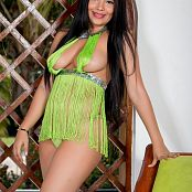 Glenda Green Mini Dress TCG Set 011 005