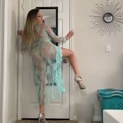 Kalee Carroll Teal See Thru Tease HD Video 402