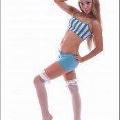 TeenModeling Alice Blue Striped Top 043