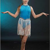 TeenModeling Alice Blue Fringe Leotard Picture Set