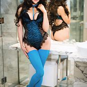Angie Griffin Blue Lingerie Picture Set