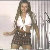 Christina Model Plaid Schoolgirl Outfit Dance Tease Video