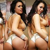 Eva Angelina Silver Shiny Bikin Curves 1080p Wallpaper