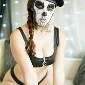 Meg Turney Caveira Make up Test 001