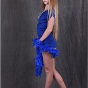 TeenModelingTV Alice Blue Wrap Dress 005