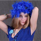 TeenModelingTV Alice Blue Wrap Dress 035