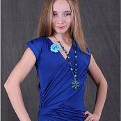 TeenModelingTV Alice Blue Wrap Dress 047