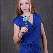 TeenModelingTV Alice Blue Wrap Dress 052