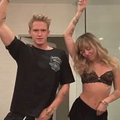 Miley Cyrus Tiktok Black Lingerie Dance Video