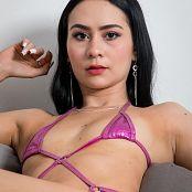 Ximena Gomez Shiny Pink Swimsuit Custom 018