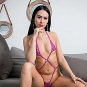 Ximena Gomez Shiny Pink Swimsuit Custom 020
