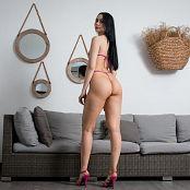 Ximena Gomez Shiny Pink Swimsuit Custom 047