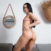 Ximena Gomez Shiny Pink Swimsuit Custom 049