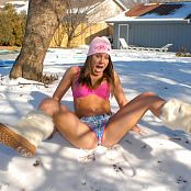 PrincessBlueyez Almost Nude Snow Angel Outtakes 012