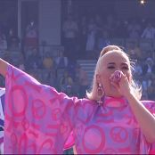 Katy Perry Intro Roar Fireworks Live at the MCG ICC Womens T20 World Cup 8 March 2020 Fox Cricket Video 110320 ts
