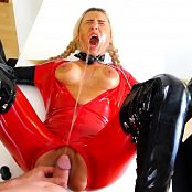 Daynia Mercilessly Perverse Latex Anal & Piss Drink HD Video