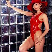 Jeny Smith Im Wearing Red Tight Vinyl Bodysuit 005