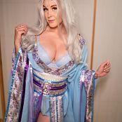 Meg Turney Blue Kitsune Kimono 021