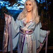 Meg Turney Blue Kitsune Kimono Picture Set