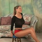 Christina Model Black Shirt & Red Shorts Video