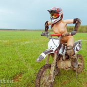 Jeny Smith Naked Girl on a Dirt Bike 029