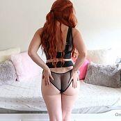 Meg Turney OnlyFans Black Lingerie Tease HD Video