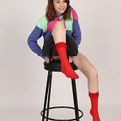 Silver Jewels Madison Red Socks Picture Set 001