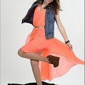 TeenModelingTV Madison Orange Dress 050