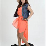TeenModelingTV Madison Orange Dress 056