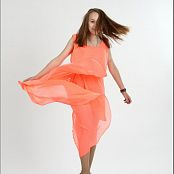 TeenModelingTV Madison Orange Dress Picture Set