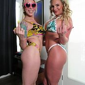 Aubrey Kate and Phoenix Marie Blonde Bimbos Suck Cock Together 001