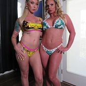 Aubrey Kate and Phoenix Marie Blonde Bimbos Suck Cock Together 010