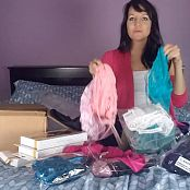 Andi Land Unboxing Lingerie HD Video
