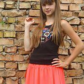 Silver Stars Eva Orange Skirt Set 001 007