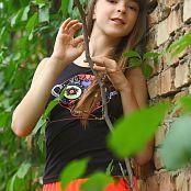 Silver Stars Eva Orange Skirt Set 001 094