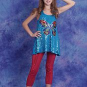 Silver Stars Eva Butter Fly Top Set 001 002