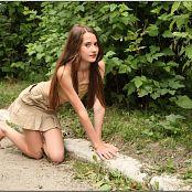 TeenModelingTV Kristine Khaki Mini 011