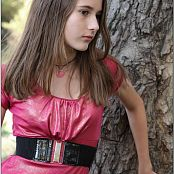 TeenModelingTV Kristine Pink Dress 008
