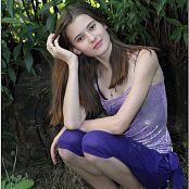 TeenModelingTV Kristine Purple Capri 009