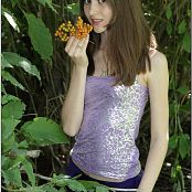 TeenModelingTV Kristine Purple Capri Picture Set