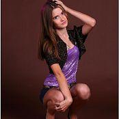 TeenModelingTV Kristine Purple Shiny 009