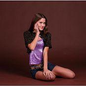 TeenModelingTV Kristine Purple Shiny 080