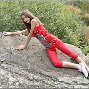 TeenModelingTV Kristine Redtank Top 070