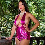 Luciana Model Fuccia Mini Dress TCG Set 006 049
