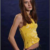 TeenModelingTV Kristine Yellow Top 001