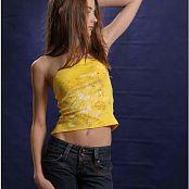 TeenModelingTV Kristine Yellow Top 008