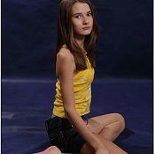 TeenModelingTV Kristine Yellow Top 089