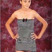 TeenModelingTV Mari Striped Mini Dress 002