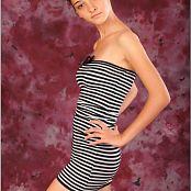 TeenModelingTV Mari Striped Mini Dress 014